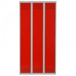Szafa ubraniowa Metalkas TG-4MSU-ECO z czerwonymi drzwiami