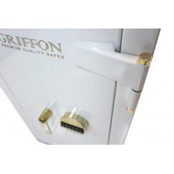 Sejf antywłamaniowy ognioodporny Griffon CLE.II.90.E WHITE GOLDEN LINE Exclusive